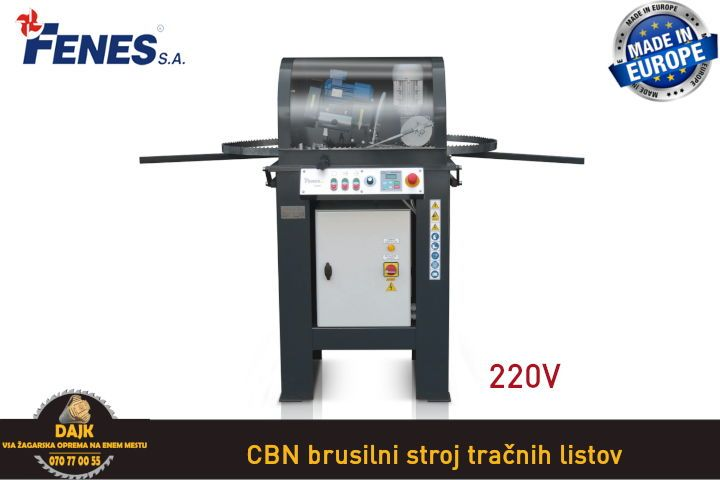 DAJK CBN brusilni stroj tracnih listov 2 220V